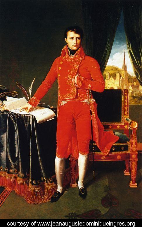 Ingres - um de seus retratos de Napoleão